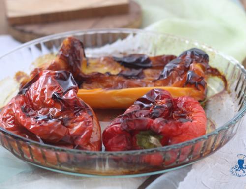 Peperoni arrostiti al forno, ricetta di facile preparazione