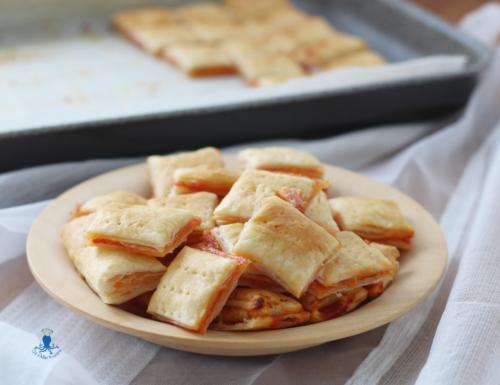 Salatini di sfoglia alla pizzaiola, 48 salatini pronti in pochissimo tempo