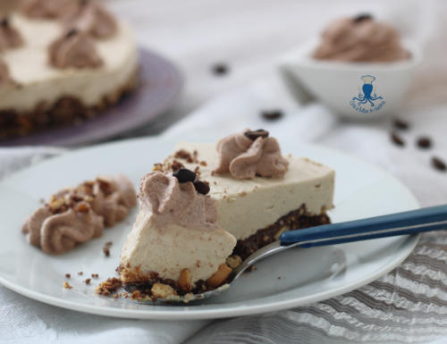 Cheesecake caffè e cioccolato, ricetta golosa senza burro