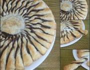 Girasole di pasta sfoglia alla nutella, ricetta dolce