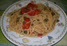 """spaghetti con pomodori """"spritti"""""""