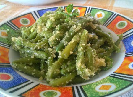 insalata di fagiolini con pangrattato