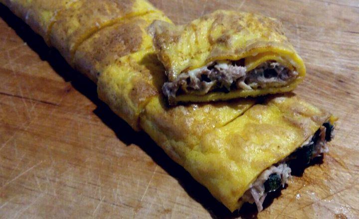 rotolo di omelette ripieno