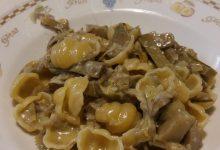 pasta con carciofi e fontina
