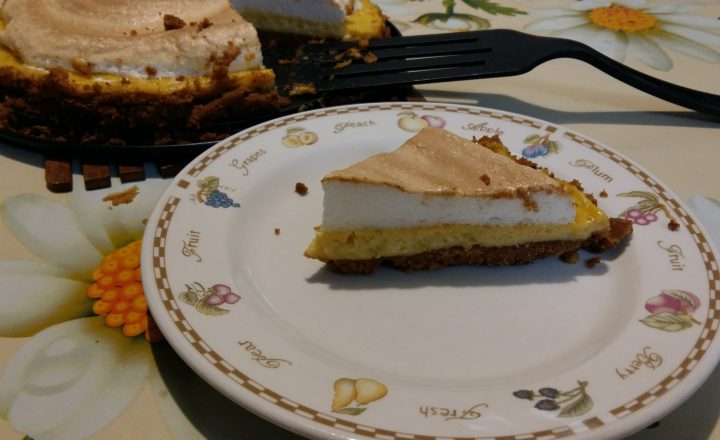 torta al lime con meringa soffice