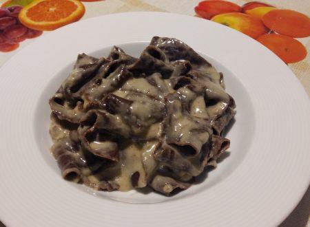 pappardelle al cacao con gorgonzola e noci
