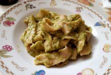reginette di farina integrale con zucchine alla curcuma