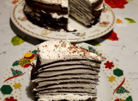 torta di crepes al cacao