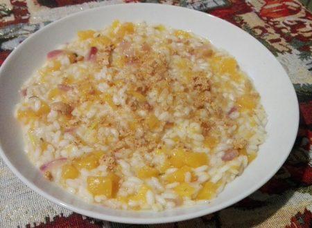risotto zucca e amaretti