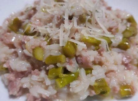 risotto asparagi e salsiccia