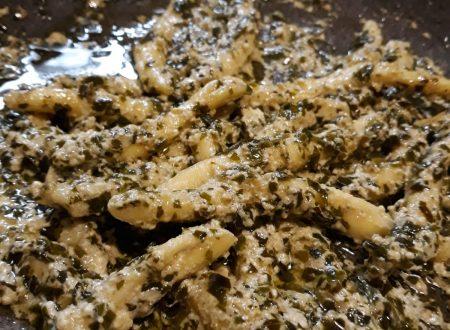 minchiareddi con pesto ricotta e formaggio caprino