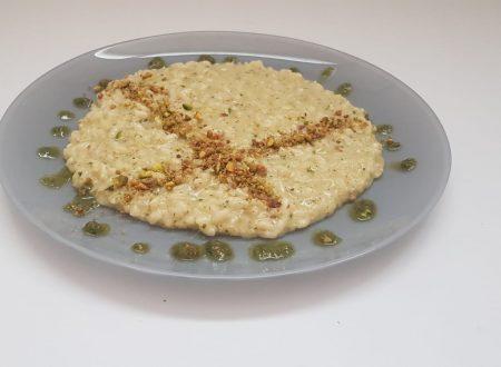 risotto al basilico con pistacchi