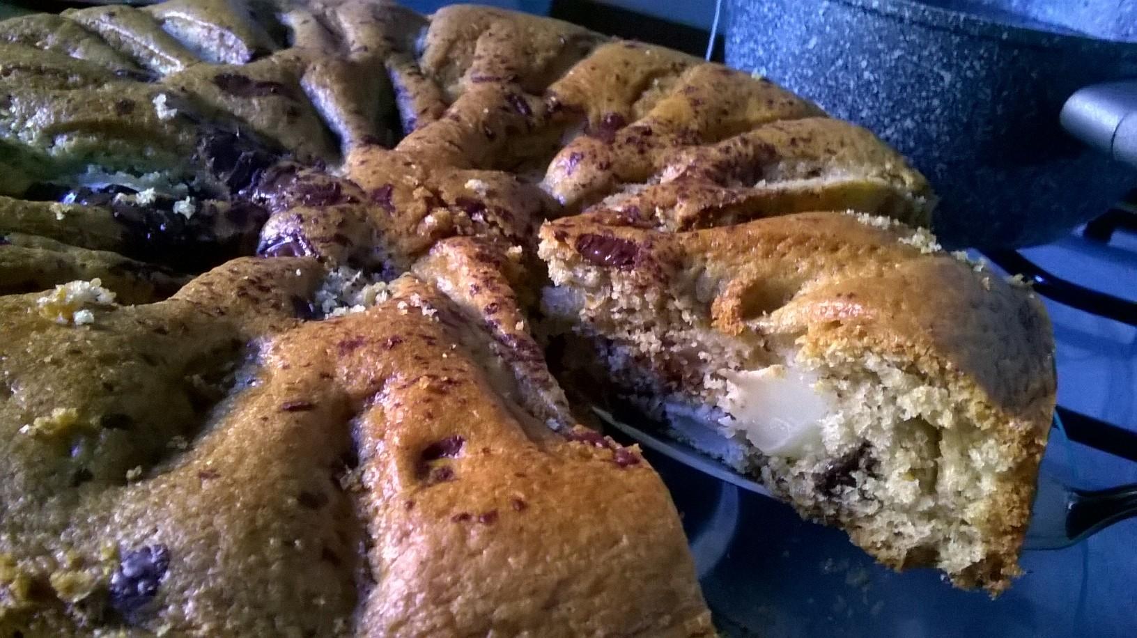 TORTA INTEGRALE DI PERE E GOCCE DI CIOCCOLATO - 巧克力梨子全麥蛋糕