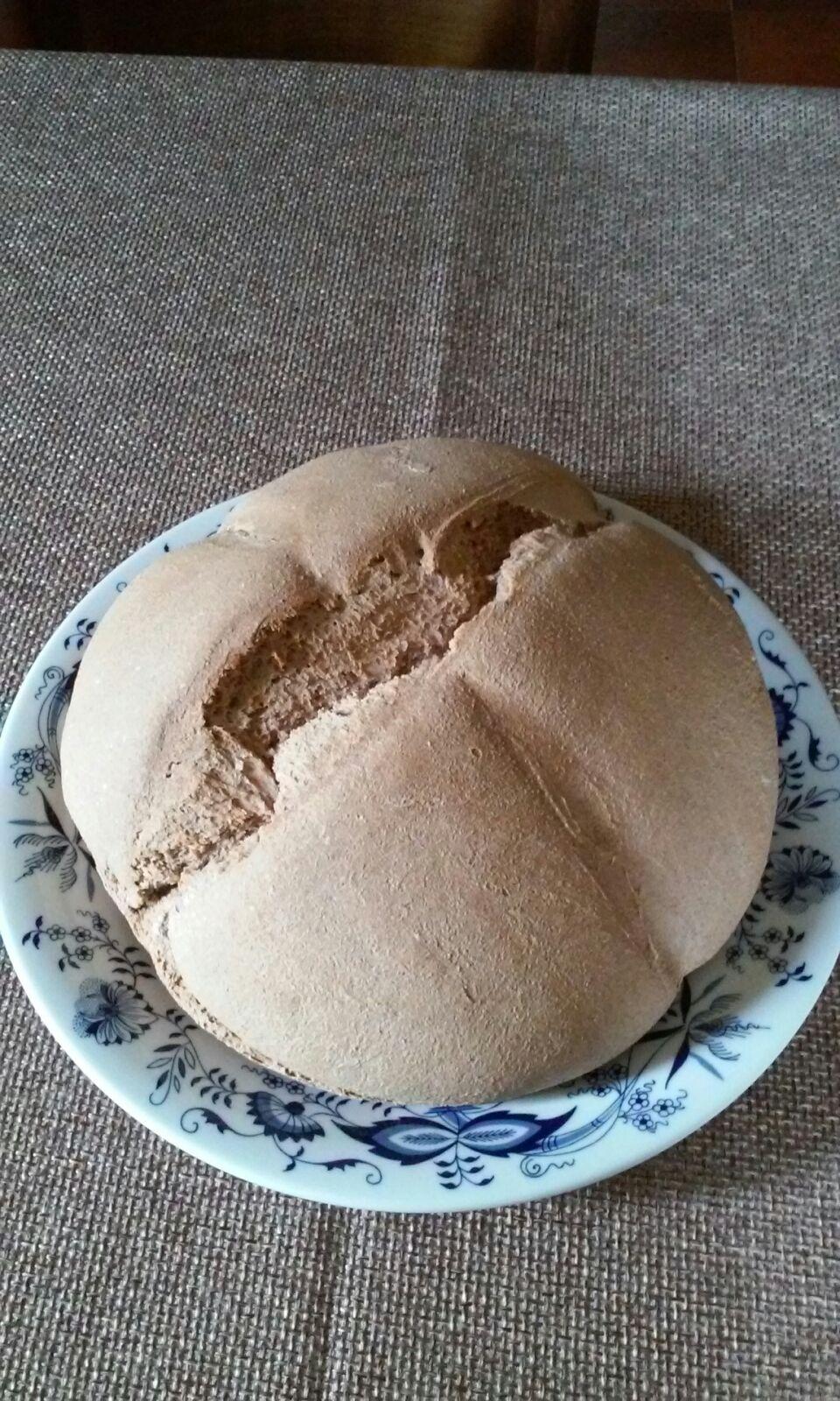 PANE INTEGRALE CON LIEVITO MADRE ED OLIO DI SESAMO CRUDIGNO - 手工老麵全麥麵包