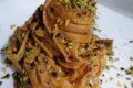 Fettuccine con la nduja funghi e pistacchi