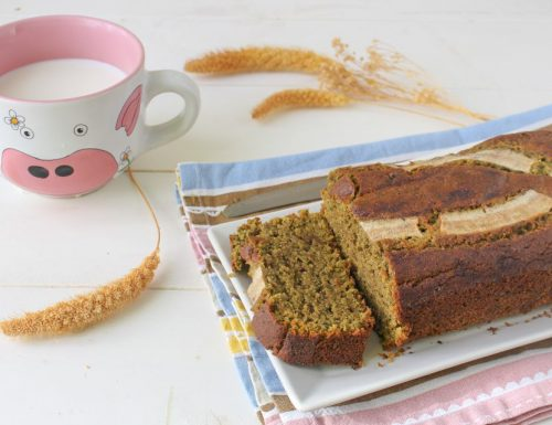 Banana bread vegano mandorle e the matcha