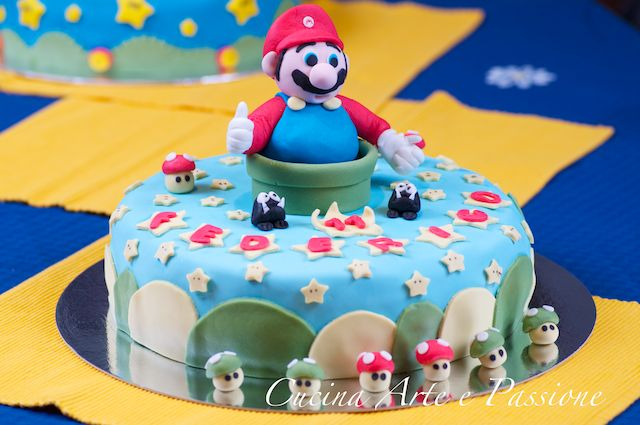 torte di super mario e yoshi cucina arte e passione. Black Bedroom Furniture Sets. Home Design Ideas