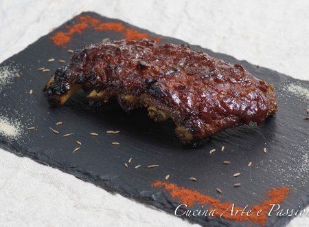 Costine glassate con salsa bbq