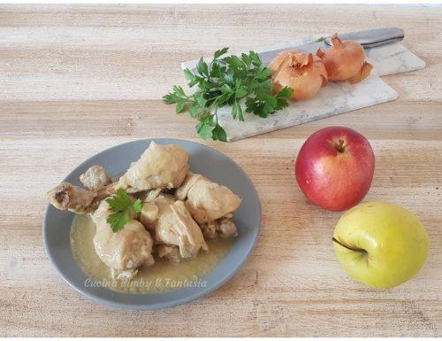 Cosce di pollo con mela e zenzero