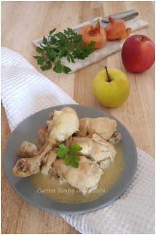 cosce di pollo con salsa di mela e zenzero
