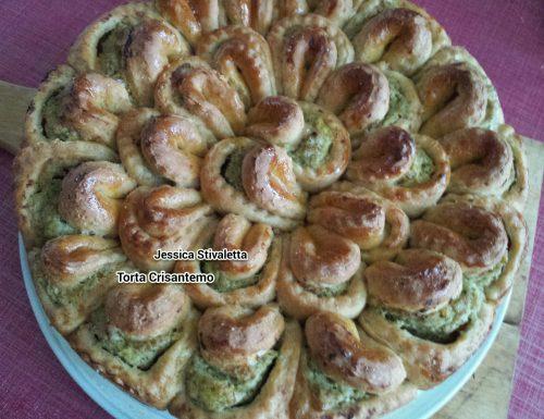 Torta Crisantemo con mousse di broccoli di J. Stivaletta