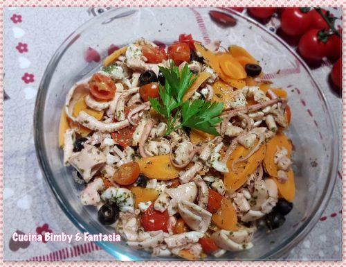 Insalata di moscardini al limone e verdure fresche con il Bimby