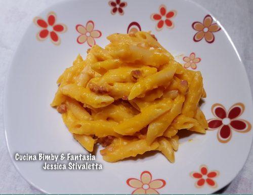 Pasta risottata con zucca e speck con il Bimby e senza