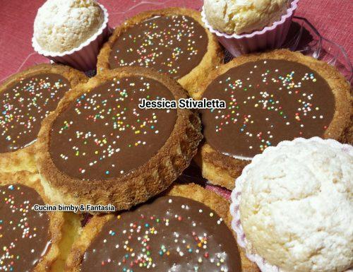 Tortine senza glutine  con crema al cioccolato