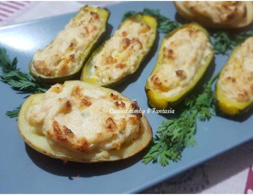 Patate e zucchine ripiene