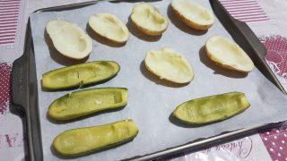 gusci di patate e zucchine ripiene