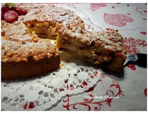 Sbriciolata con crema di formaggi e fragole fresche con il Bimby