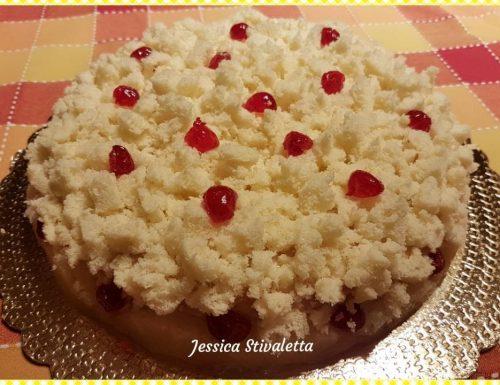 Torta mimosa con crema pasticcera e ananas sciroppato con il Bimby