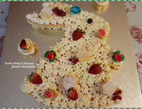 Cream-tart Pasquale a forma di coniglio