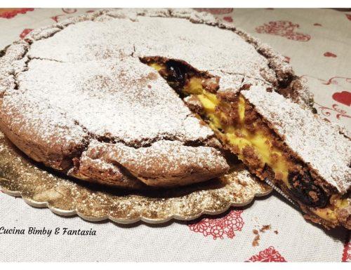 Torta Pasticciotto con frolla al cacao e crema all'arancia