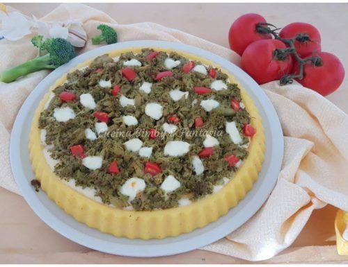 Pizza di polenta con broccoli e besciamella Bimby