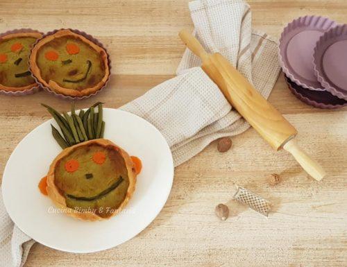 Tortine salate con fagiolini e carote