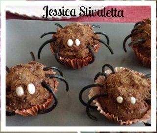 ragnetti di muffin per halloween