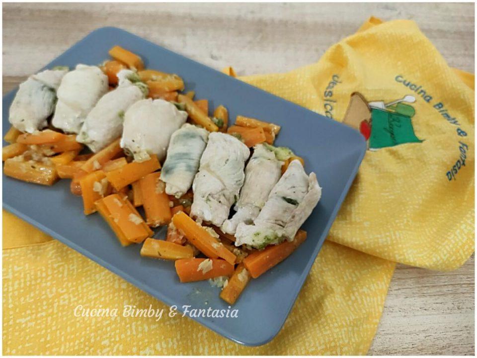 involtini di pollo con pesto e mozzarella