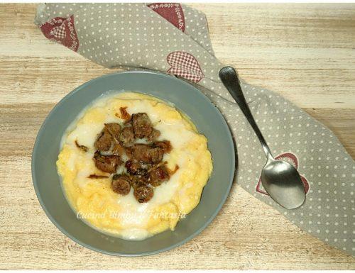 Polenta con rapa bianca e salsiccia