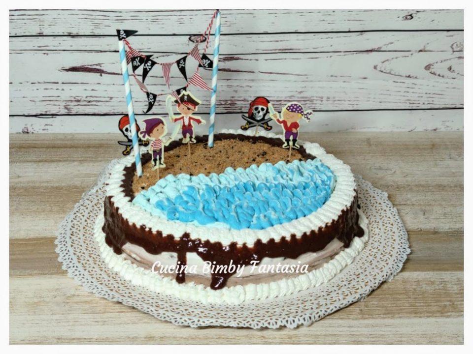 Torta di compleanno dei pirati