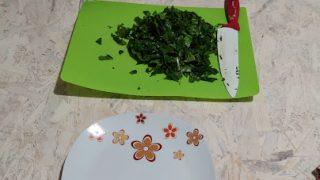 frittata di spinaci e vellutata di zucca e sedano