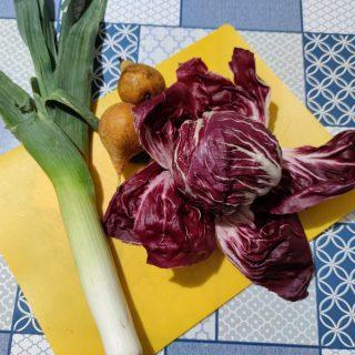 risotto pere, radicchio e gorgonzola