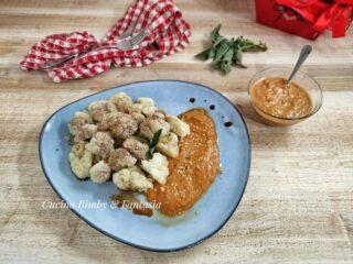 Cavolfiore al vapore con salsa ai porri, rustiano