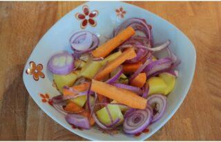 verdure per il coniglio all'arancia
