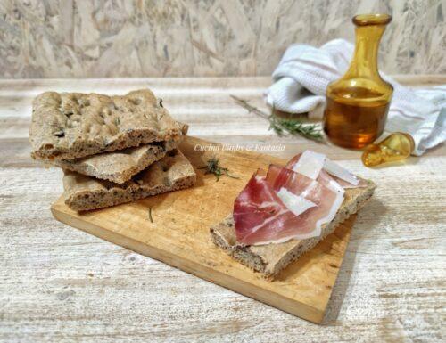 Focaccia alle olive rustica con il Bimby