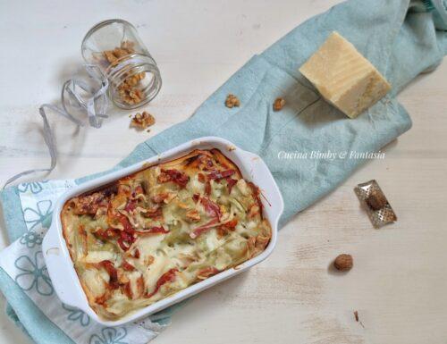 Lasagna con cavolo verza e speck