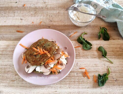 Pancake agli spinaci con il Bimby e senza