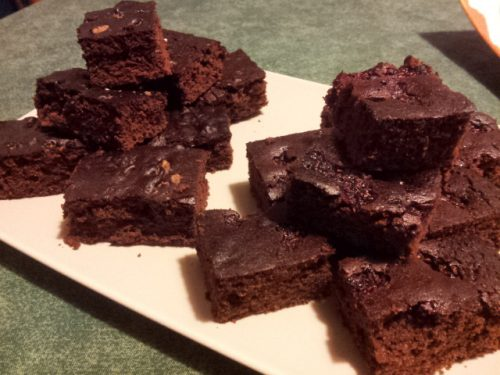 Brownies lamponi e cereali