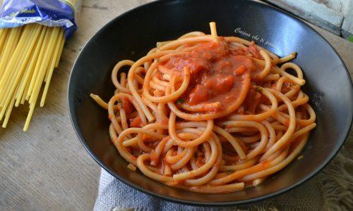 Spaghetti cotti nel sugo