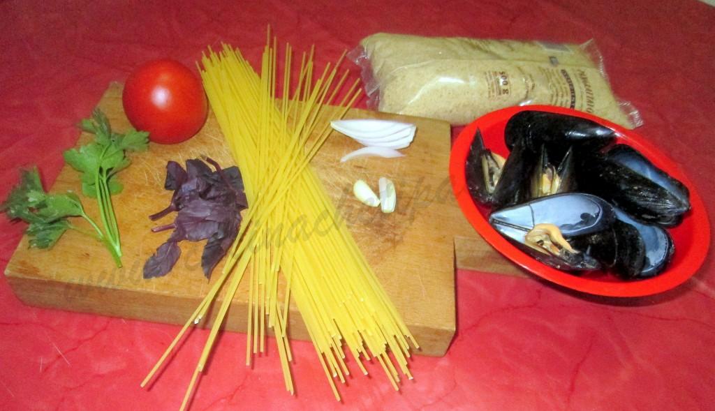 spaghetti con cozze e pan grattato 2